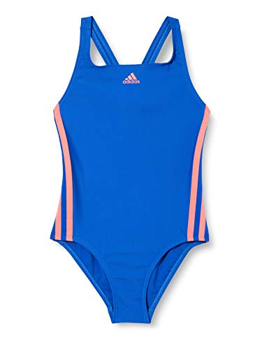 adidas Mädchen FIT Suit 3S Y Swimsuit, Team royal Blue/Semi Flash red, 1112